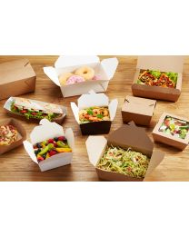 Kraft Leak Proof Salad Box 120/137x152/170x64mm